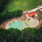 Letecký pohled - koupaliště Borek